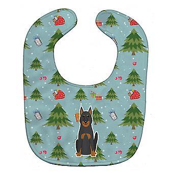 Carolines Treasures  BB4740BIB Christmas Beauce Shepherd Dog Baby Bib