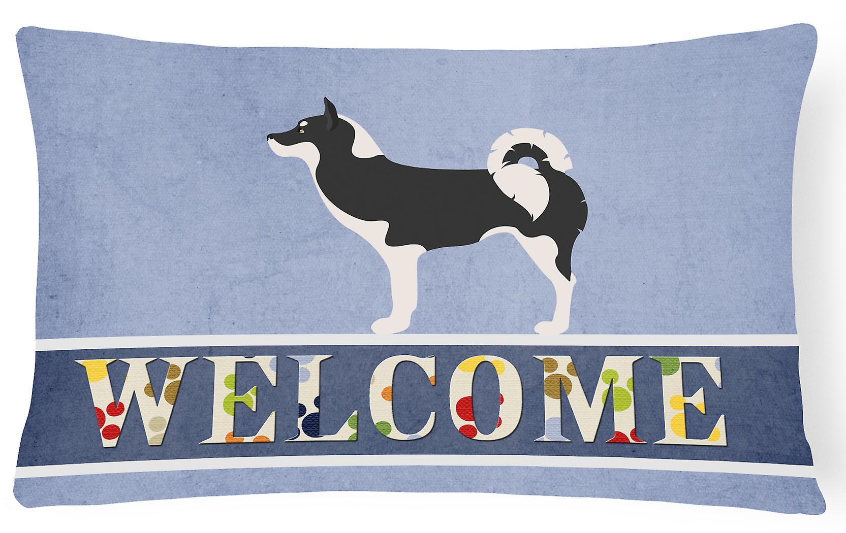 Fabric Pillow Dog Welcome Canvas Decorative Greenland 3AL4R5jq