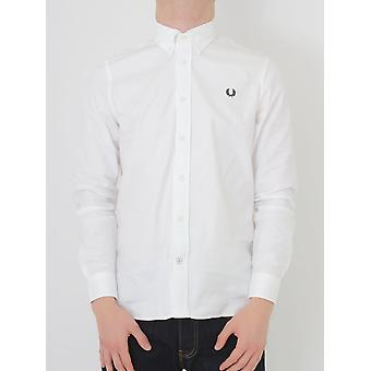 Fred Perry Classic Twill Shirt - White