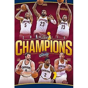 2016 NBA Finals - Champions Poster Poster Print