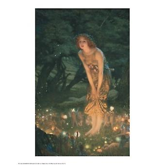 Midsummer Eve Poster Print by Edward Robert Hughes (24 x 30)