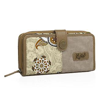 Wallet card holder women, pressure, closing handle and zipper. Capacity 10 cards/documentation and 2 for tickets. 19X9cm 92118