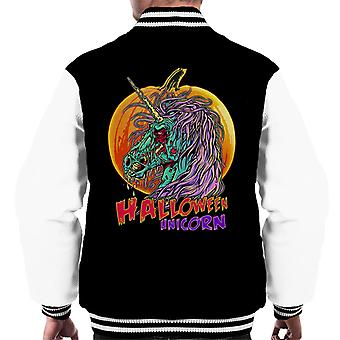Halloween Unicorn Men's Varsity Jacket