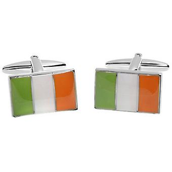 Zennor Irish Flag Cufflinks - Green/Orange/White