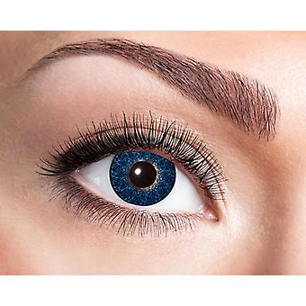 Blue black patterned natural contact lens