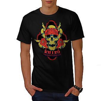Killer Rose Death Men BlackT-shirt | Wellcoda
