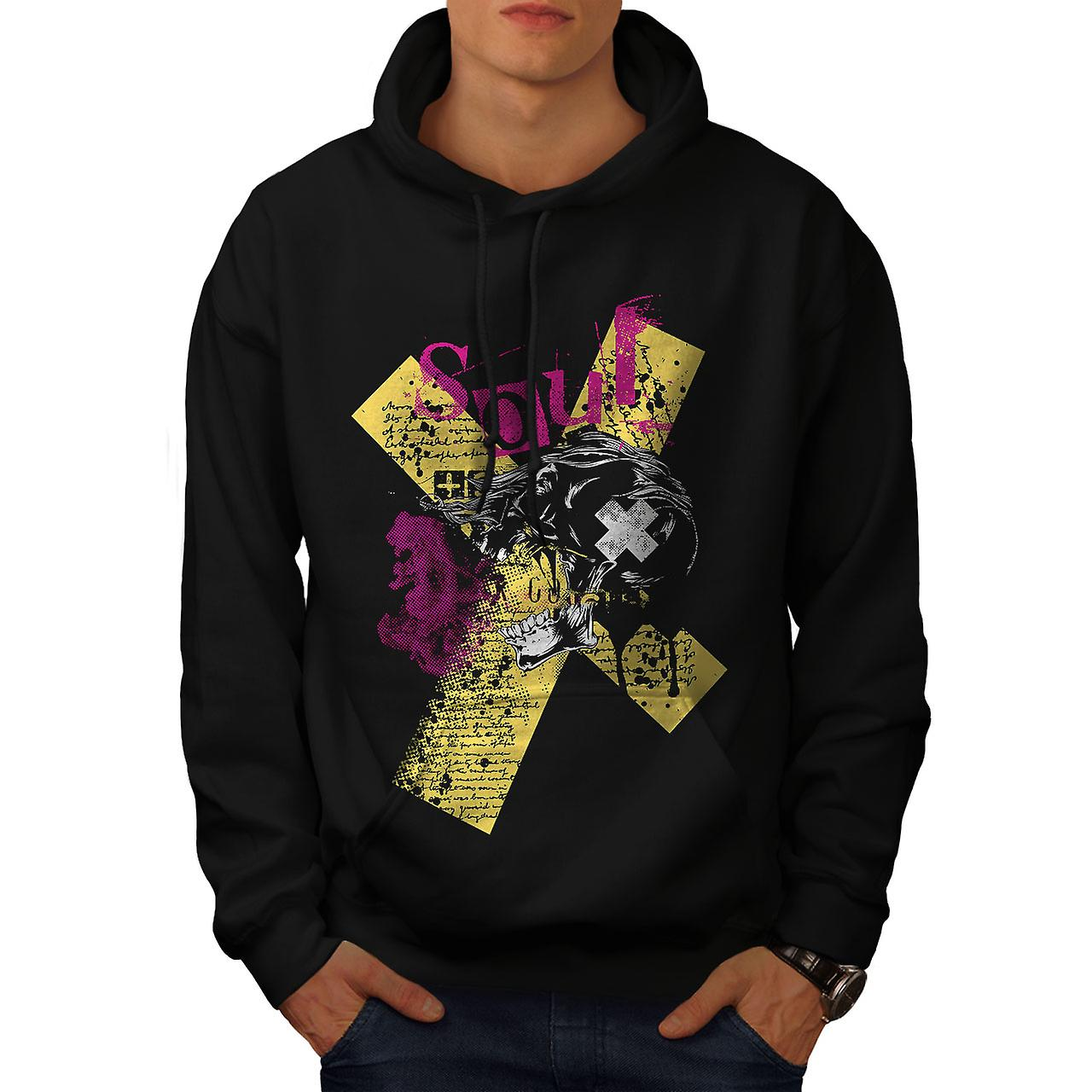 Death Horror Cool Skull Men Black Hoodie | Wellcoda