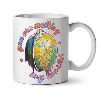 Melting World Cute Funny NEW White Tea Coffee Ceramic Mug 11 oz | Wellcoda