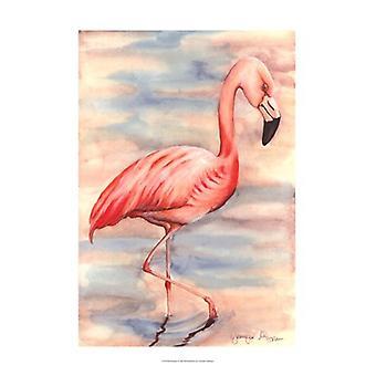 Roze Flamingo ik Poster Print by Jennifer Goldberger (13 x 19)