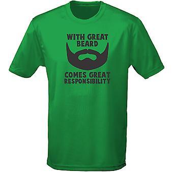Grote baard komt grote verantwoordelijkheid Mens T-Shirt 10 kleuren (S-3XL) door swagwear
