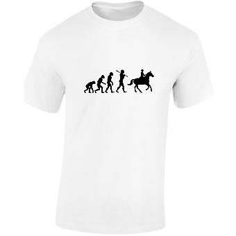 Horse Riding Evolution Evo Horse Equestrian Kids Unisex T-Shirt 8 Colours (XS-XL) by swagwear