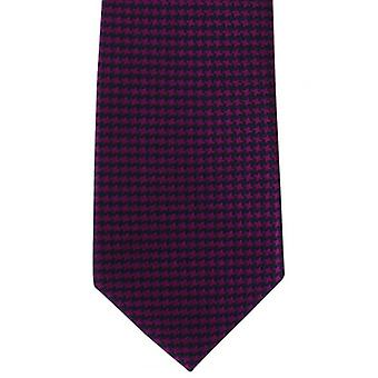 Michelsons of London Bold Dogtooth Silk Tie - Magenta