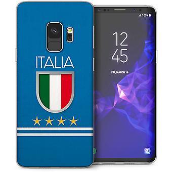 Samsung Galaxy S9 Italien Fußball TPU Gel Abschirmkäfig – blau