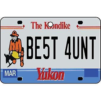 YUKON - Best Aunt License Plate Car Air Freshener