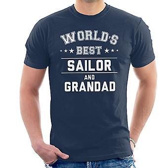 Worlds Best Sailor And Grandad Men's T-Shirt