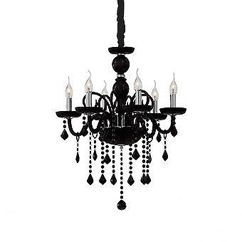 Идеальные Lux Джудекка потертый шик черный 6 свет подвесной потолок подвесной
