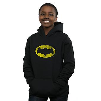 DC Comics Boys Batman TV Series Distressed Logo Hoodie