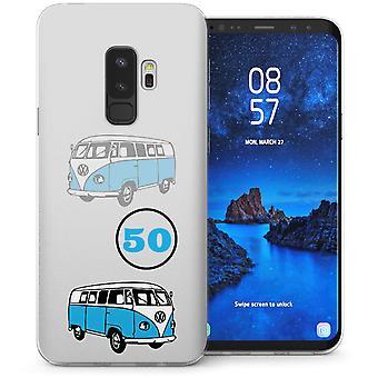 Samsung Galaxy S9 Plus Retro Camper TPU Gel Case – wit