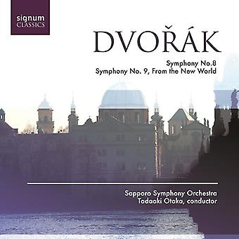 A. Dvorak - Dvor K: symfonier nr 8 & 9 [CD] USA import