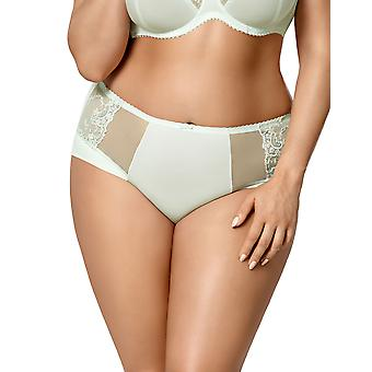 Gorsenia K429 Women's Laguna Mint Green Embroidered Knickers Panty Full Brief