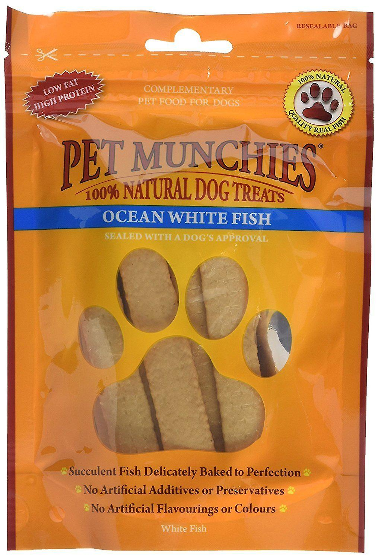 Pet Munchies Natural Dog Treats Ocean FIsh 100 g, Pack of 8