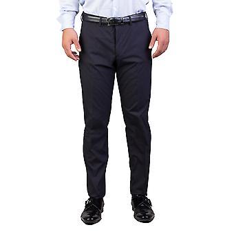 Prada Men's Cotton Blend Trouser Pants Pinstriped Navy Blue