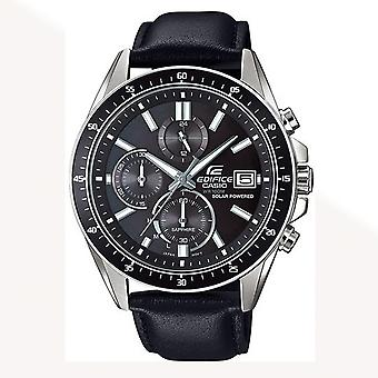 Casio Watches Efs-s510l-1avuef Edifice Leather Chronograph Solar Powered Watch