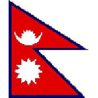 Bandera de Nepal 5 pies x 3 pies con ojales para colgar