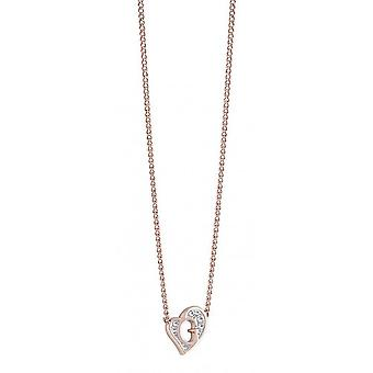 Guess ladies chain necklace stainless steel of Rosé gold UBN71538