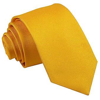 Zonnebloem gouden Solid controleren slanke Tie