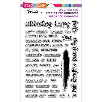 Stampendous Perfectly Clear Stamps-Greetings Galore