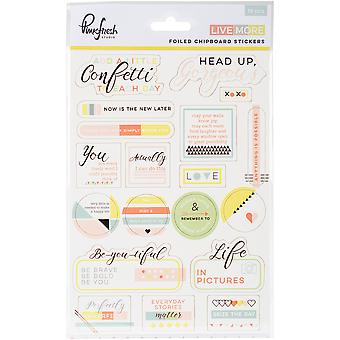 Live More Layered Chipboard Stickers 5