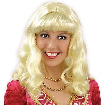 Princess hair curls Weißblond