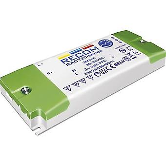 Recom Lighting RACT20-1050 LED driver Constant current 20 W 1.05 A 12 - 18 Vdc dimmable, PFC circuit, Surge protection,