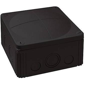 Wiska 10062214 Junction box (L x W x H) 140 x 140 x 82 mm Black IP66/IP67