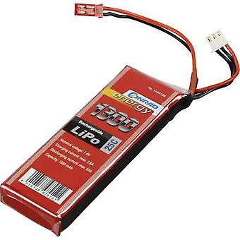 Conrad energy Scale model battery pack (LiPo) 7.4 V 1300 mAh No. of cells: 2 25 C Stick BEC