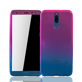 Huawei mate 10 Lite mobile phone shell protection case cover tank protection glass pink / blue