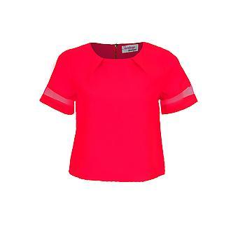 Dames mazen korte mouw partij Vrouwen Geweven Neon Top en Shorts