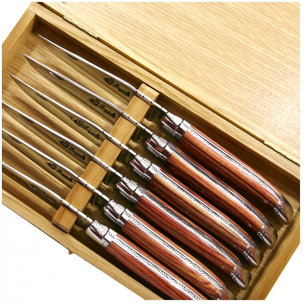 Laguiole steak knives rose wood handle Direct from France