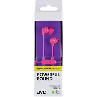 JVC HAFR15P Colourful In-Ear Earphone with Remote & Mic - Pink