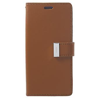 Mercury GOOSPERY Rich Diary till Samsung Galaxy S9 Plus - Brun