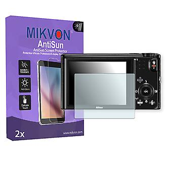 Nikon COOLPIX S9700 Screen Protector - Mikvon AntiSun (Retail Package with accessories)