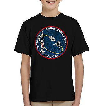 NASA Apollo 9 Mission Badge Distressed Kid's T-Shirt