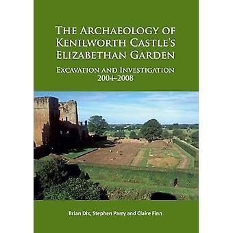 L'archéologie du château de Kenilworth élisabéthain jardin - Excavation