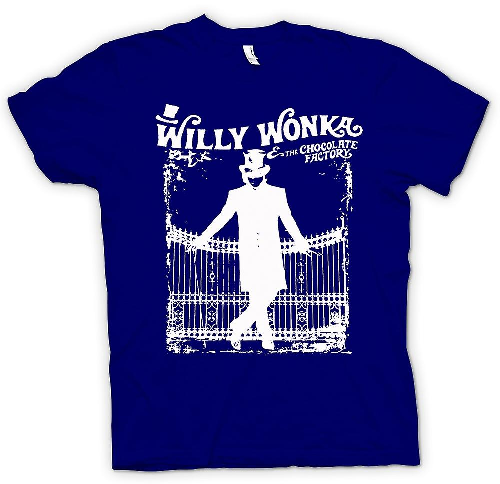 Hommes T-shirt - Willy Wonka Et Chocolate Factory - BW