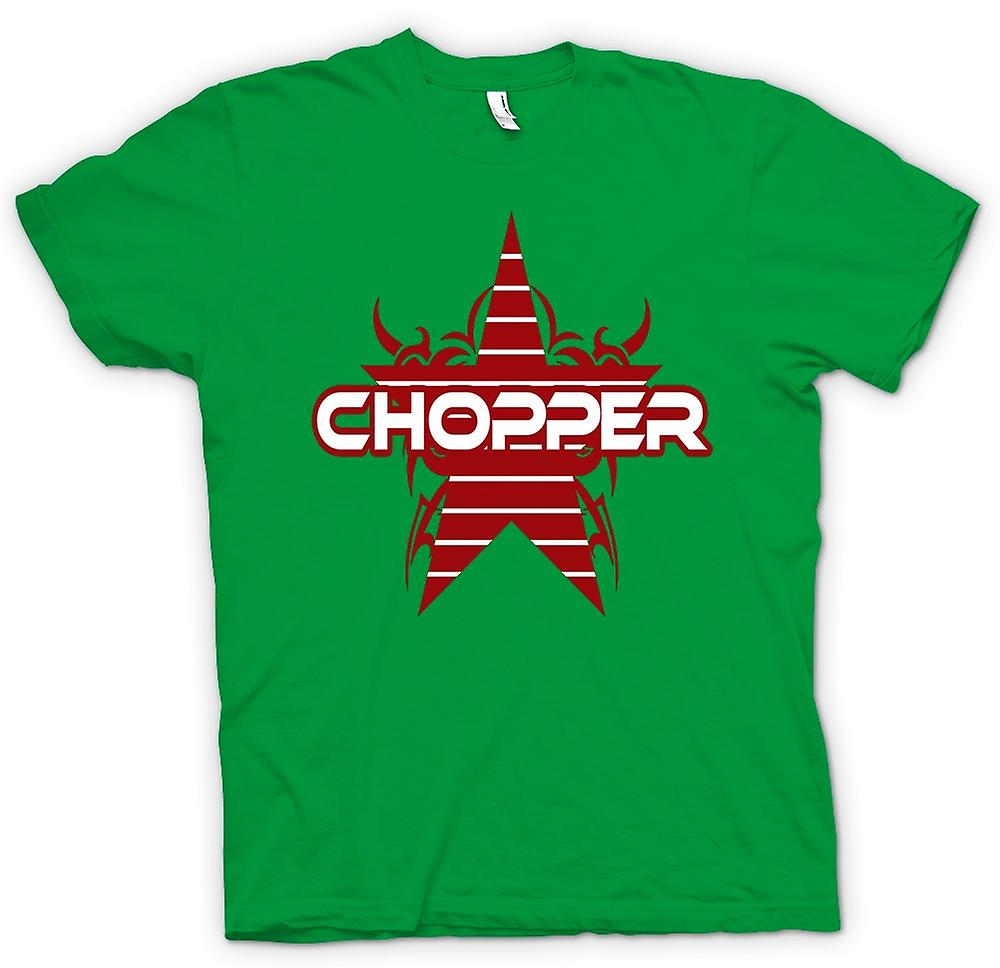 Mens T-shirt - Chopper Retro Bike - Funny