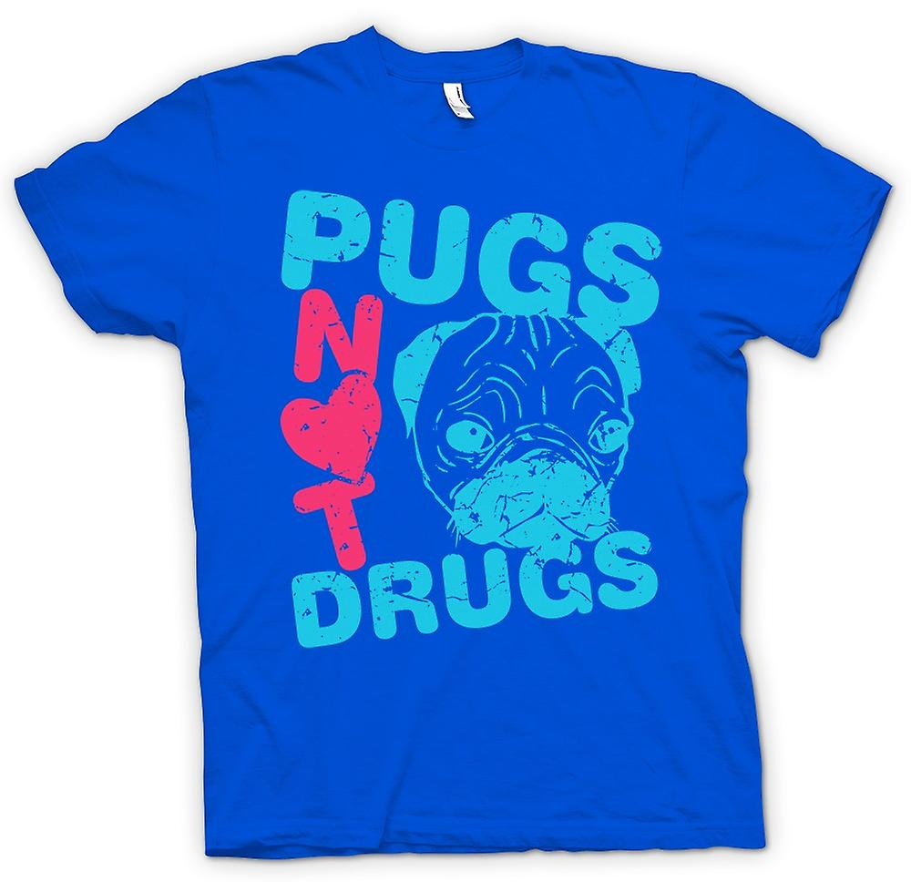 Mens t-shirt-Pugs farmaci non divertente