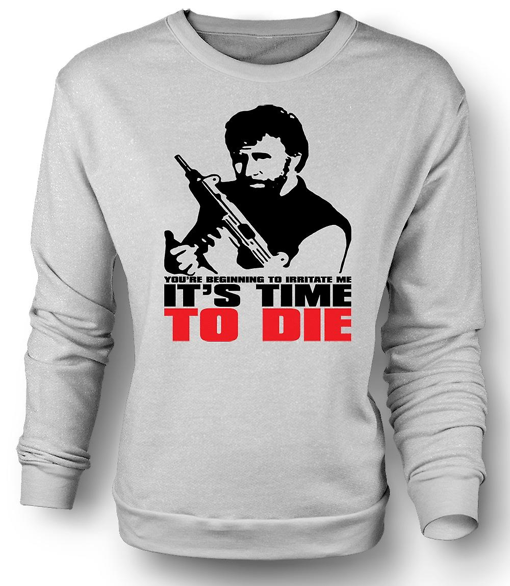 Mens Sweatshirt Chuck Norris Time To Die - Funny