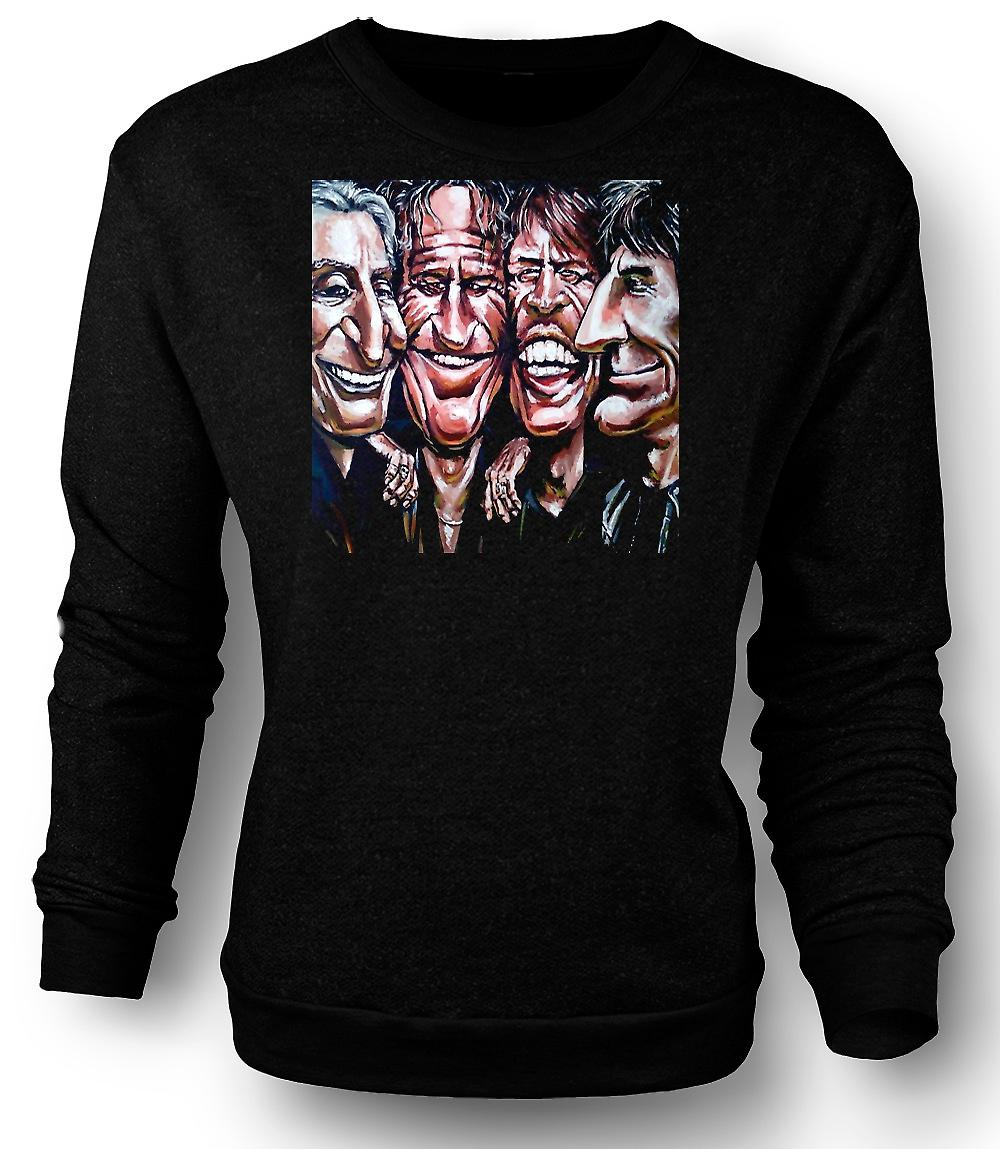 Mens Sweatshirt Rolling-Stones - Cartoon - Band