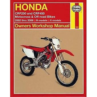 Honda Crf250 & Crf450 (02-06) (manuel d'atelier de propriétaires)